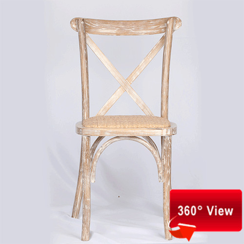 ZS-9002T OAK WOOD CROSS BACK CHAIR