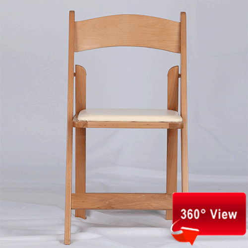 ZS-8805 WOODEN NATURAL FOLDING CHAIR
