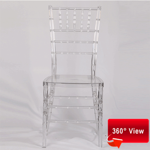 ZS-8046R RESIN PC CLEAR CHIAVARI CHAIR